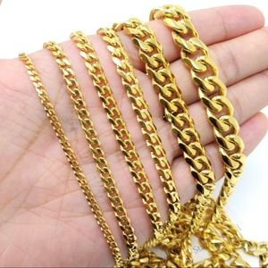 Other - MENS 18k Miami Cuban Curb Link Chain Necklace